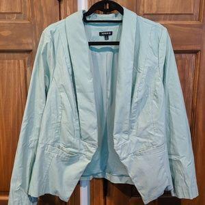 Mint green torrid blazer professional jacket